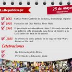 #EfeméridesLR ¿Qué pasó un 25 de mayo? http://t.co/t291LuWgWL
