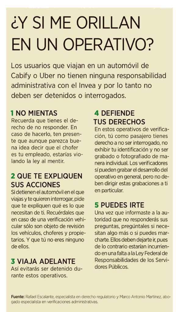 """OJO: por si les toca """"operativo"""" a bordo de un Uber o Cabify #UberSeQueda http://t.co/xANKvxlhh3"""