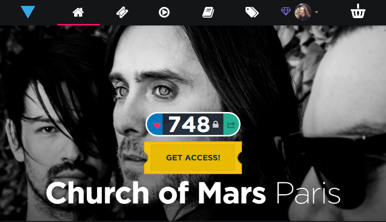 RT @lilxerin: Only 748 left! Really want to see #ChurchOfMarsParis on @VyRT Soon! Plus Early Believer VIP get VV with @JaredLeto http://t.c…