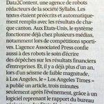 Les robots remplacent les journalistes : @LesEchos http://t.co/8mvf0dCpfW