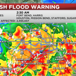 Almost 2.5 MILLION people impacted by Flash Flood Emergency over Houston, Sugar Land!!! DO NOT DRIVE TONIGHT! http://t.co/AJBDBlvWCe