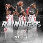 Historic rain falls in city of Houston - both inside and outside of Toyota Center as Rockets win Game 4 to stay alive http://t.co/KFAJg80VzT