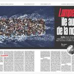 Voilà à quoi ressemblera une double page intérieure du nouveau @libe dès lundi (merci @strategies1 ) http://t.co/7bd03MlXTG
