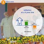 RT @PMOIndia: Inflation at a 9 year low. #SaalEkShuruaatAnek
