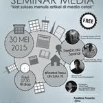 #jogja @paklikaris: 30/5/15 7.30 Seminar Media Menulis di Teatrikal Perpus UIN SUKA | Free | 082325601545 http://t.co/oBTeeOBXc9