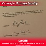 I have given notice that I will move a Bill on Monday which will finally bring about #marriageequality in Australia http://t.co/sOdY3R2gb1