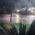 Ruby Montemayor-Portugal just sent in this photo showing flooded Quail Valley streets with water at least knee deep. http://t.co/aB879yzUA1