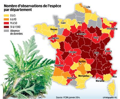 #allergies #carte #infographie l'ambroisie colonise la france >> (via @leparisieninfog ...