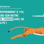 Roland-Garros + des guépards… C'est ici que ça se passe. ;) #ibmrg #RG15 https://t.co/2rXju4DoBp http://t.co/iqQa6vV7jR