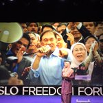 Extraordinary speech by @n_izzah @OsloFF about @anwaribrahim and #Malaysias quest for #HumanRights & #Democracy. http://t.co/xUK7s4zYlM