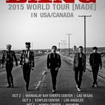 [BIGBANG 2015 WORLD TOUR MADE in USA/CANADA CONFIRMED] More info @ http://t.co/GOcULnvzFJ #BIGBANGMADE #MADETOUR http://t.co/HNZMe5uuBH