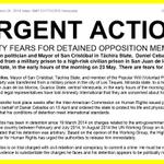 Liberen a Daniel Ceballos Amnistía Internacional emite Acción Urgente mundial por Daniel Ceballos http://t.co/WWf95vIt81