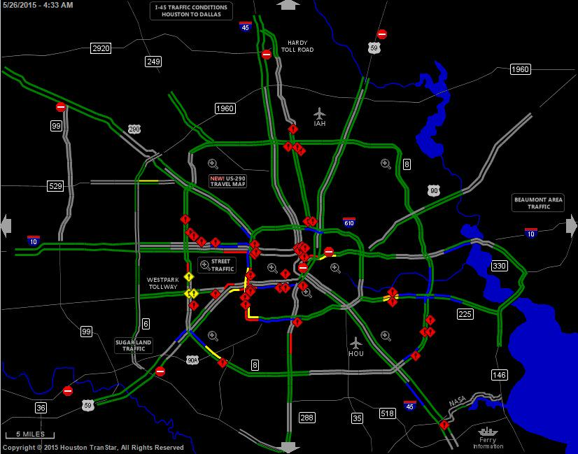 Red Symbols On Houston Transtar Map Denote Only Some Of The Areas