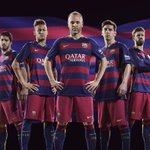 Have you seen the new 2015/2016 @FCBarcelona kit? #football #QatarAirways http://t.co/bYy0PrMsaV