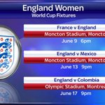 England Women begin their World Cup campaign in Moncton against France on 9th June #SSNHQ #SportsWomen http://t.co/bHLwiVd06B