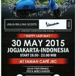 #JOGJA @OVUdjogja: 30/5/15 19.00 Jogja Rolling Scoots di Cafe JEC http://t.co/w16JO9Rcq1
