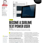 RT @melissajclark_: Look whose in the latest @netmag! @wesbos. Lots of great tips on becoming a Sublime Text Power User. http://t.co/lEvK60…