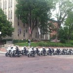 Motorcycle police officers from several regional departments assembling at Creighton for Orozco funeral. http://t.co/rc5qvR2DrL