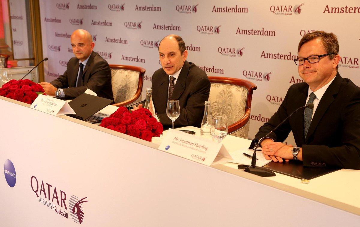 Amsterdam welcomes QatarAirways ahead of inaugural flight on 16