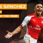 Congratulations to Alexis Sanchez who has been voted the PFA Fans Player of the Year! #POTY @Arsenal http://t.co/NAOmssV9Tj