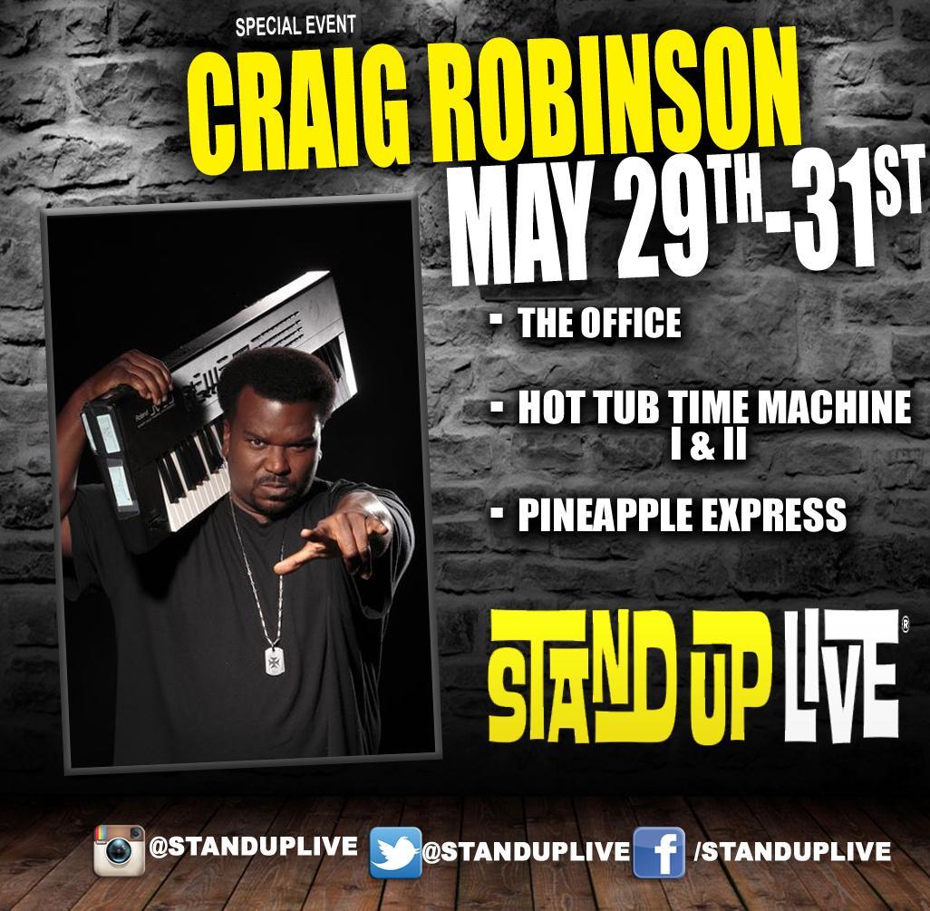 We have @MrCraigRobinson headlining all weekend long! Jump on it > http://t.co/hOzSLALPdY http://t.co/qTiK9VKdKr