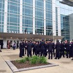 Outside Century Link for Off. Kerri Orozcos funeral. Talked with Police from San Fran, Indy, Minnesota @WOWT6News http://t.co/ftegWUW9Pj