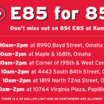 E85 for $.85 a gallon this THURSDAY! Will we see you there? #omaha #e85 http://t.co/Zix9r7M5xZ http://t.co/9sq4tAlUr9