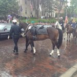 The riderless horse has arrived to the church, a symbol for a fallen officer. #action3news http://t.co/OYamGlSoY9
