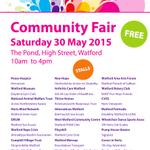 Watford Community Fair 2015 featuring @PHTCWatford @gguidingherts @SignpostNews @thrivinghomes @WatfordRC @HertsMind http://t.co/fC6GKmnEZ9