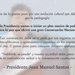 #HablandoSePuede: nuestra sociedad debe pasar de la confrontación a la conversación constructiva Pdte @JuanManSantos http://t.co/EBY94Fd0Mb