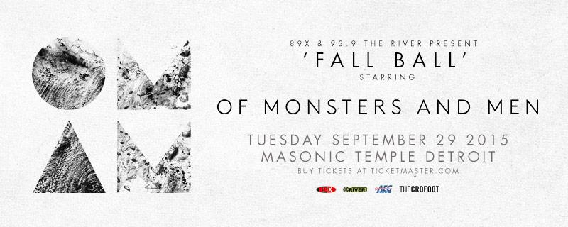 .@TheOfficial89X and @939theriver  Present 'Fall Ball' starring @monstersandmen 9/29 at Masonic Temple! http://t.co/H4bMuBA3Io