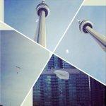 Man parachutes off CN Tower for #Toronto Pan Am Games video (photo via @ShelizaJamal) http://t.co/3uu49KNvRh http://t.co/9SJVhhriaX