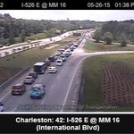 RT @lvanliewlive5: Traffic backing up on 526. Ravenel Bridge has been closed almost an hour. #chstrfc http://t.co/pNOEByPnkf