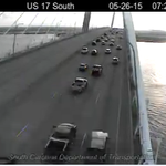 Traffic finally flowing over Ravenel Bridge on 17 South. Northbound still closed. #chstrfc http://t.co/3TSMhgHBkA