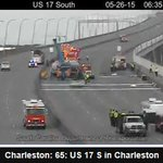 MT @CharlestonPD Sedan removed from underneath truck. being loaded onto tow truck http://t.co/FPe2ttsFwo #chstrfc http://t.co/XZraX7zZbg