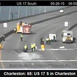 :D RT @CharlestonPD Tanker being towed off the bridge. Cleanup crew still cleaning up spilled fuel #chstrfc http://t.co/5FTzWHfseV