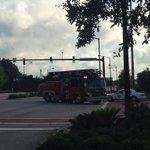 This fire truck just drove off the Ravenel bridge #chsnews http://t.co/1lN2U0HuYL