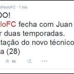 ATENCIÓN | Juan Carlos Osorio fue confirmado como nuevo técnico del @SaoPauloFC. http://t.co/N0i7ixNbti