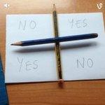"""@Eyaaaad: هناك لعبة يُقال انها تحضير لجني مكسيكي اسمه تشارلي تأتي بورقة عليها علامة + وتكتب Yes No مثل الصورة يتبع http://t.co/5fvwIjM8JQ"
