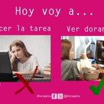 #ConGanasDe hacer la tarea #NoEsCierto #ConGanasDe ver #doramas http://t.co/M7VwvfrVTG