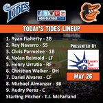 Heres tonights lineup, as @66TJMac takes the hill in a 6:35 contest against the Syracuse Chiefs #Orioles http://t.co/OWQ8EK1HTO