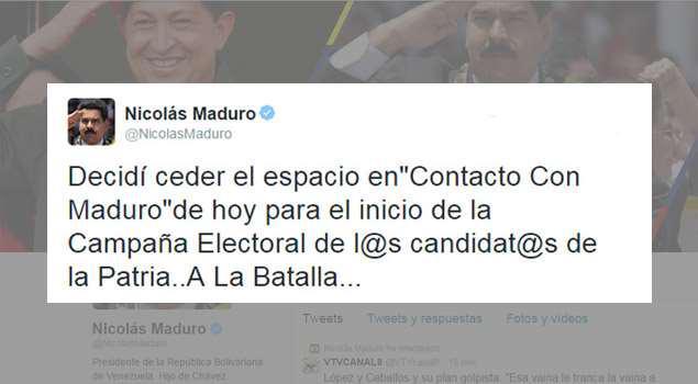 CORRUPCIÓN DESCARADA. Maduro anuncia que cometerá peculado en su propio Twitter http://t.co/ERX1iT6KBl http://t.co/kXkCv3M1iL