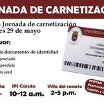 Jornada Gratuita de Carnetización para estudiantes de segundo a noveno semestre @Unipamplona @Catymojica http://t.co/fz9vYP3vY9