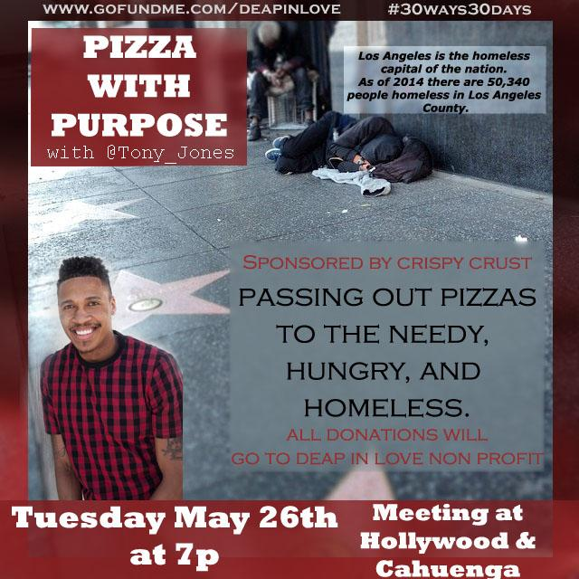 #LosangelesLife for many=homelessness #GiveBack 2nite giving out pizzas in #Hollywood w/ @Ariellesmiles #MyDayInLA http://t.co/rQ8oUJmG0c
