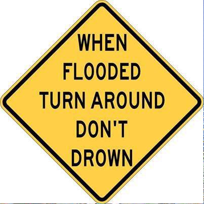 Please share: Never drive through flooded roads! Turn Around, Don't Drown #HoustonFlood http://t.co/b6vmPIUPh7