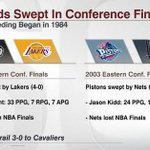 Only two 1-seeds have ever been swept in the conference finals. Will the Hawks join the list after tonights Game 4? http://t.co/8NpTAZTXyQ