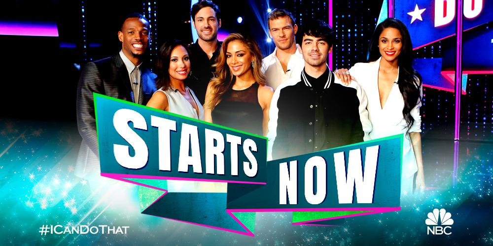 RT @NBCICanDoThat: Watch the premiere of #ICanDoThat with us right now on @nbc, East Coast! RETWEET if you can do that! http://t.co/U5qJawX…