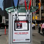 Spotted: A pretty cool bus shelter ad for the new @globeandmail app at Queen and Bay http://t.co/i60EshDh2q