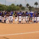 San Dimas-Edgewood moment of silence for Etiwanda freshman softball player Dana Housley #prayfordana http://t.co/2KlWdbtxSc