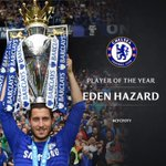 Congratulations to @hazardeden10, who has been voted as our Player of the Year! #CFCPOTY http://t.co/5Tc6oa84Un